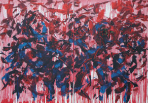 007 Rebels  oil on canvas 140 x 200 cm