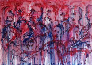 014 Red oil on canvas 140 x 200 cm