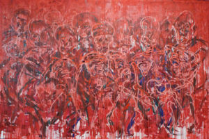 009 Dancers of death oil on canvas 200 x 300 cm