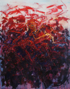 010 Explosion oil on canvas 100 x 80 cm